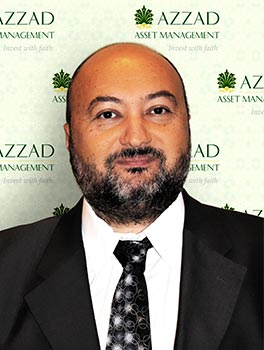 Ayman Khalil is an investment advisor with Azzad Asset Management. He holds a bachelor's degree in political science and economics from Linkoping University, Sweden, and the State University of New York, Albany, NY.