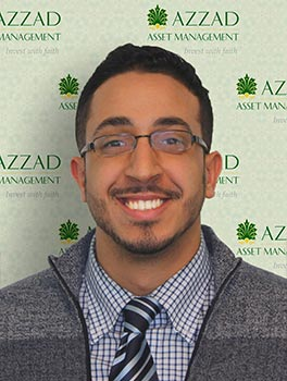Ehab Alalfey is an investment advisor with Azzad Asset Management. His goal is to help his clients through each stage of their financial lives by providing sound advice and clear communication and by building lasting relationships.