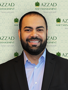 Ibtasam (Raj) Mahmood is an investment advisor with Azzad Asset Management. He graduated from George Mason University with a degree in decision science and management of information systems.