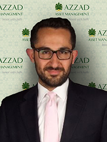 Zubair Khan is an investment advisor with Azzad Asset Management. He holds a bachelor's degree from the University of Connecticut and earned a master's in business administration from the University of Hartford.