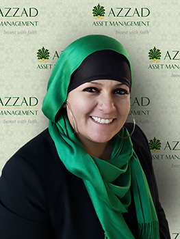 Amneh Carranza is the financial administrative assistant at Azzad Asset Management. She provides support to the financial advisors with administrative tasks.