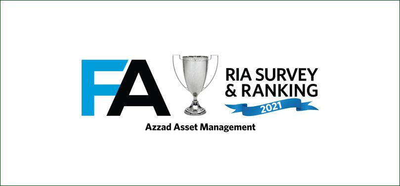 Financial Advisor Magazine names Azzad in 2021 RIA Survey and Ranking